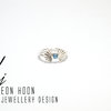 Blue Topaz Art Nouveau Ring by Eon Hoon Jewellery Design