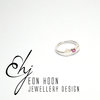 Pink Tourmaline Art Deco Ring by Eon Hoon Jewellery Design