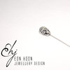 Sterling Silver Sugarskull Lapel Pin by Eon Hoon Jewellery Design