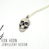 Sterling Silver Skull Necklace by Eon Hoon Jewellery Design