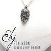 Sterling Silver Sugar Skull Necklace by Eon Hoon Jewellery Design