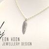 Sterling Silver Feather Necklace by Eon Hoon Jewellery Design