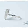 Sterling Silver protea Heart Ring by Natasha Wood Jewellery