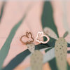 Rose gold bunnies by Lens and Hues Handmade