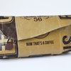 Clutch Upcycled coffee bag by Creative Lines
