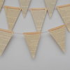 Vintage Paper Bunting Flags by Something Els