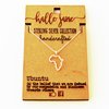 Tiny Africa Outline Necklace by HALLO JANE