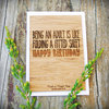 Being An Adult Is Like ... - Bamboo Gift Card by HALLO JANE