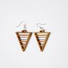 Bamboo Earrings - Triangles by HALLO JANE