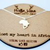 I Lost my Heart in Africa Sterling Silver Necklace by HALLO JANE