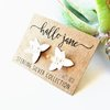Iris Flower Studs – Sterling Silver by HALLO JANE