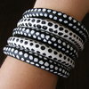 'Going Dotty' wooden bangles - Black & White by Gecko Gifts