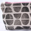Boxy Pouch in Black Circles by Sew & Such