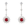 Civetta Spark Keria Earring - Made with Swarovski Crystal- Ruby by Civetta Spark