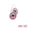 Purple flower silver earrings (EAR113) by Anna Hart - Jewellery by Heart