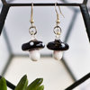 Glass Mushroom Earrings by Tam Cam Creatives