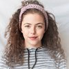 Micky-Jean crocheted gentle pink knotted headband/earwarmer  by needle nerds