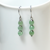 Natural light Green Aventurine gemstone on stainless steel  by ATENEA