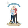 Custom Digital Family Portrait Illustration  by Polkadot Box