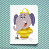 ​Fireman elephant greeting card by Terrapin and Toad