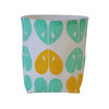 """Apples"" fabric basket in aqua and yellow by i Spy"