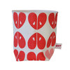 """Apples"" fabric basket in coral and pink by i Spy"