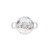 Sterling Silver BradDaShey interchangeanle face piece  for bangle Snowflake CZ by Havilah Designer Jewellers
