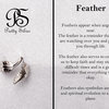 Pretty Silver Feather Ring by Havilah Designer Jewellers