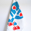 """Fig Tree"" Tea Towel in blue and coral by i Spy"