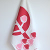 """Fig Tree"" Tea Towel in coral and pink by i Spy"