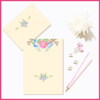 Customisable Floral Watercolour Invite/Note and Envelope (Option 1) by The Art of Creativity Studio