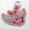 Flying Piggy Key Ring by Thats so ME!