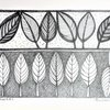 Original Art, 2 Pen Drawings of Abstract Africa Leaves, Size A4. Small Wall Art for Nature Lovers made in Cape Town. adri art by WHISP by Adri