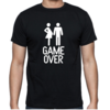 GAME OVER dad to be T-Shirt/ New dad / Future Dad / Pregnant Wife / Novelty T-Shirt/ Nappy Braai Gift/ Baby Shower Gift/ Dad to be  by Little Lion Cub Studio