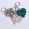 GEO HEART KEY RING (M0044) by Miss Magpie