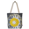 """Giant Pin"" tote in sunshine and charcoal by i Spy"