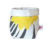 """Giant Pin"" fabric basket in sunshine and charcoal by i Spy"