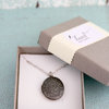 Antique Silver Photo Locket Necklace (LS49) by Heart Jewelry Creations