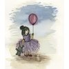 Girl with Balloon (A4) by Art by Rony