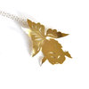 Brass Gold Fish Necklace by SMITH Jewellery