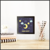 Good Night Set of 3 Moon Prints for Children's Room by The Art of Creativity Studio