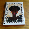 GIRAFFE LADY 24- A5 SPIRAL NOTEBOOK by AFRIKARTWORX