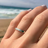 Engraved Sterling Silver Ring (Free Shipping) by Silvery Jewellery