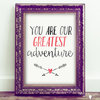 ​Printable Nursery Wall Art - Our greatest adventure by Skrikkeljaar