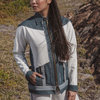 PIPED PANELED DENIM & SCUBA BOMBER TOP by Judith Atelier