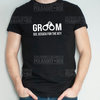 Groom Handcuff Wedding Tee  by Polkadot Box