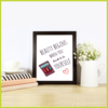 Beauty begins when you decide to be YOURSELF Posters/Prints/Wall Art by The Art of Creativity Studio