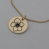 Rose Gold Hawthorn Birth Flower Necklace, May Gifts, Flower Jewellery by Swish Jewellery Studio