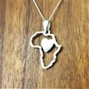 Sterling Silver African frame with heart by UMOYA