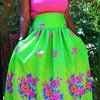 High waisted full circle skirt by African B Fashion